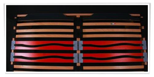 AILIME SRL - SOMIER DE MATRIMONIO ELECTRICO (160 X 190 CM  LAMINAS DE HAYA REGULABLES)