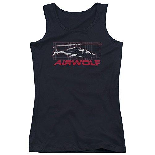 Airwolf - Débardeur Grille de jeunes femmes - Black