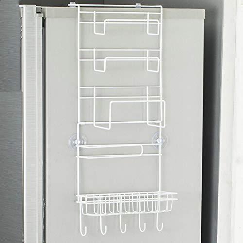 aixingwuzi Multifunktions-Kühlschrank-Aufbewahrungsregal, platzsparend, für Kühlschrank, Seitenwand-Ablage, für Zuhause, Dekoration - White @ - Kunststoff-utensil Display
