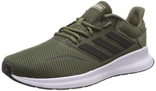 adidas Falcon, Scarpe da Running Uomo, Verde (Raw Khaki/Core Black/Footwear White 0), 44 EU