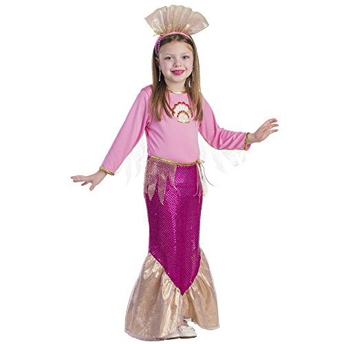 Dress Up America Kleines Mädchen Prinzessin Mermaid Rosa Kostüm (Meerjungfrau Dress Up Kostüm)