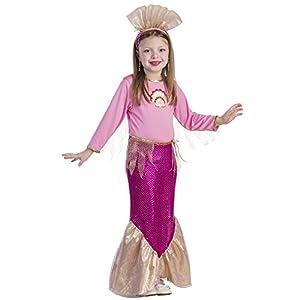 Viste a América - 827-T4 - Disfraz de la Sirenita - 3-4 años - Tamaño 97 cm - Multicolor