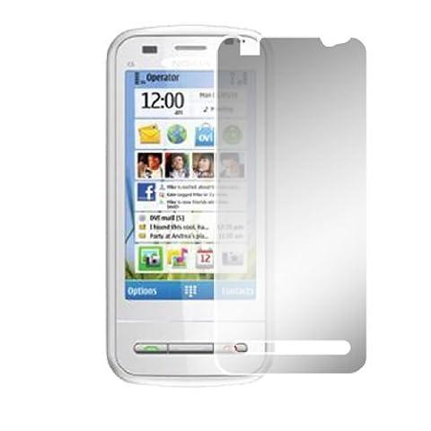Clear Plastic Film Screen Shield voor Nokia C6 (C6 Nokia)