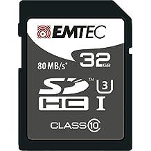 Emtec SDHC 32GB Class10 Platinum 32GB SDHC UHS Clase 10 memoria flash - Tarjeta de memoria (32 GB, SDHC, Clase 10, UHS, 80 MB/s, Negro, Gris, Blanco)