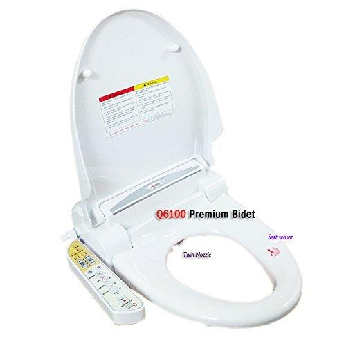 Quoss Q6100 Neue rund Sitz Bidetaufsatz Toilette Wasser elektronische Sprühgeräts Aufsatz