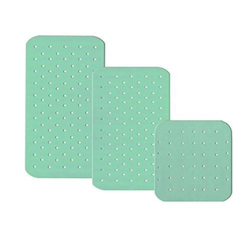 casa pura® Wanneneinlage Relax | mit Massagenoppen | mint | schadstoffgeprüft | als Badewanneneinlage und Duschmatte erhältlich | 3 Größen (75x35 cm)