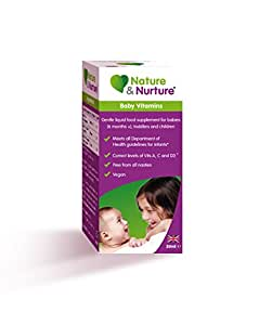 Nature & Nurture Baby Vitamins. The Gentle Liquid Multi-Vitamin for Babies, Toddlers and Children. Made in The UK.