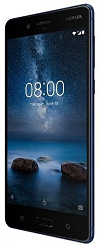 "Nokia 8 Plus, Smartphone da 5,3"" 2560 x 1440, Octa core Snapdragon 835, 6 GB RAM, Memoria 128 GB, Camera 13 MP, Dual SIM, Blu Lucido, Android [Italia]"