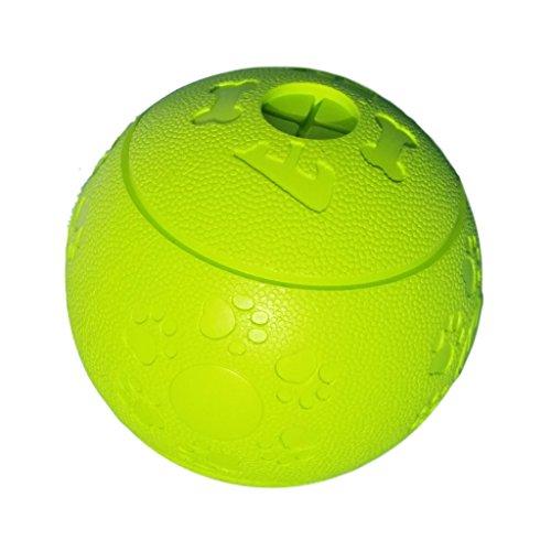 WEPO Hundespielzeug | Robuster Snackball aus Naturkautschuk (Naturgummi) mit Öffnungen und Hohlräumen für Leckerli | Für große und kleine Hunde | Snackball | Kauball | Labyrinthball (Grün)