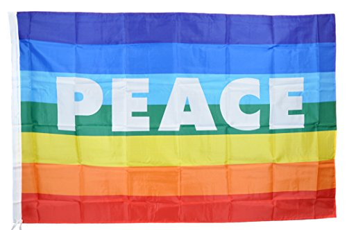 G.v. bandiera della pace cm 90x150 flag peace no war movimento pacifista arcobaleno tessuto resistente