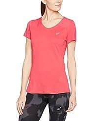 Asics T-Shirt Manica Corta Fuzex V-Neck Fucsia S