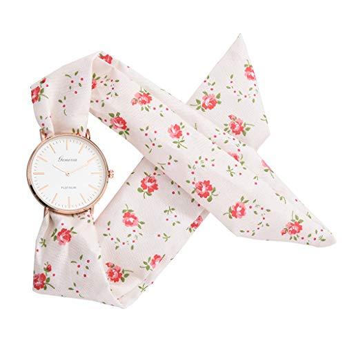 Kleid Kostüm Kegeln Sexy - LOLIANNI Blume Tuch Design Quarzuhr Frauen Mädchen Armbanduhr Damen Persönlichkeit Mode Kleid Uhr