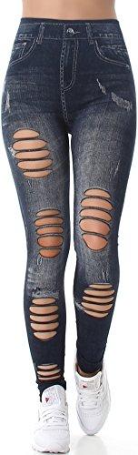 SL1 - Legging de sport - Skinny - Femme (6) Graublau