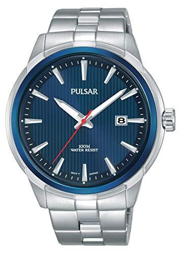 Pulsar Reloj Analógico para Hombre de Cuarzo con Correa en Acero Inoxidable PS9583X1