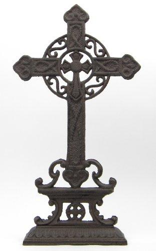 Stehkreuz KREUZ KRUZIFIX STANDKREUZ WEGEKREUZ aus GUSSEISEN Grabschmuck Keltisches Kreuz