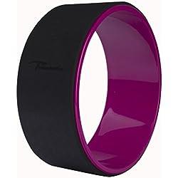 Timberbrother rueda para Yoga Ideal para estirar, equilibrio y la flexibilidad mejoras, 32 cm (Negro/ Violeta)