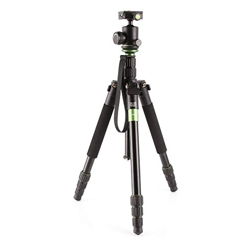 Fotga Kamerastativ DSLR Stativ Kamera Fotostativ Reisestativ mit Schnellwechselplatte Kugelkopf für Canon 5D Mark VI, 6D II Nikon D850 D7500 Sony A9 A7III A7RIII Panasonic GH5S Olympus E-M10 Mark II