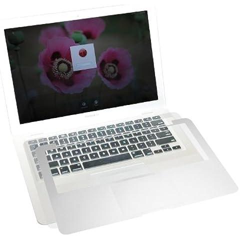 Incutex MacBook 15 Pro Retina, PalmGuard und Trackpad Protector Schutzfolie, Tastaturcover, Aluminium Optik