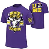 Camiseta de John Cena Never Give Up Lila Retro hasta 5X l. Talla:medium
