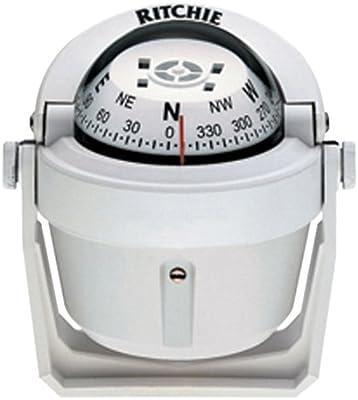 Ritchie Navigation 128-B51W Compás Explorer Soporte, Blanco, Talla Única