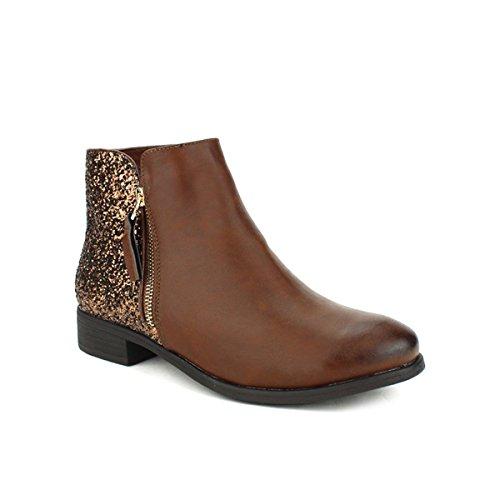 Cendriyon Bottines Marron Quenn Vivi Chaussures Femme Marron