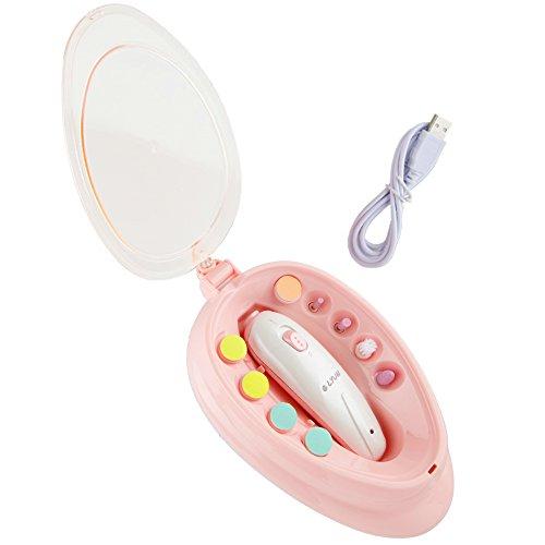 Elektrische Baby Nagelfeile Nagelknipser set Baby Nails Nagelpflege für Babys 6 in 1 Maniküre Pediküre Set Batteriebetrieben Baby Nagelpflege mit LED Licht