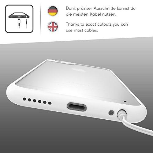 Urcover® Apple iPhone 6 Plus / 6s Plus Schutzhülle transparent mit Rahmen in Rosa Back-Case Cover Smartphone Schale Weiß