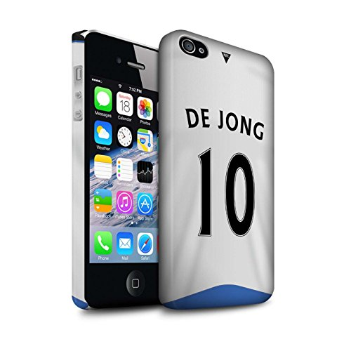 Offiziell Newcastle United FC Hülle / Matte Snap-On Case für Apple iPhone 4/4S / Tioté Muster / NUFC Trikot Home 15/16 Kollektion De Jong