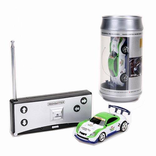 Preisvergleich Produktbild SODIAL(R)Mini Auto Cola Dose RC Fernbedienung Spielzeug Auto RC Fernradio - Weiss & Gruen