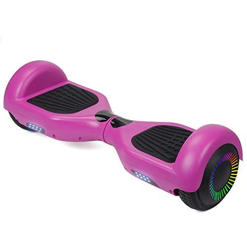 """Megawheels Hoverboard Scooter Elettrico 8\"""" Smart Self Balance Board Skateboard Monopattino Elettrico con 2 * 350W Motore, LED, Bluetooth Speaker (Rosso+Nero)"""