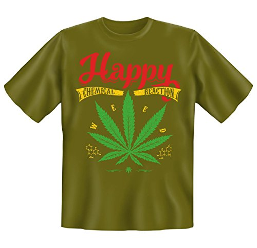 cooles, witziges und tolles Motiv und Sprüche T-Shirt -Set : Happy......CHEMICAL REACTION Khaki