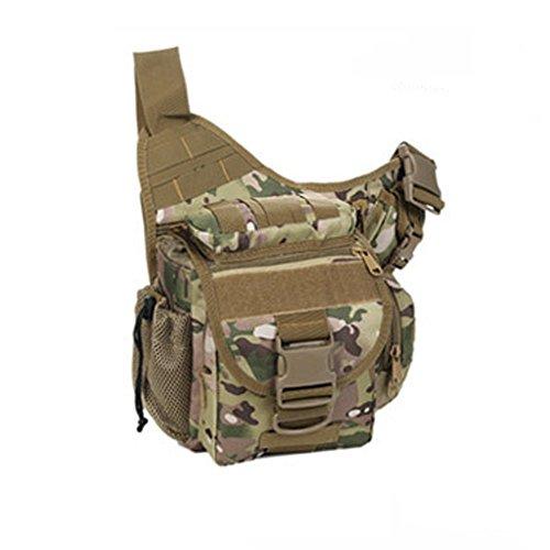 YAAGLE Tarnung satteltasches Paket bauchtasche gürteltasche hüfttasche Umhängetasche Kameratasche Outdoor Schultertasche militärisches satteltasches Paket-Tarnung 4 Tarnung 2
