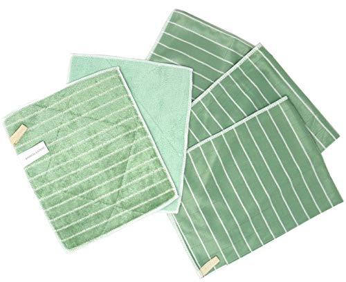 Bambus Expert® – Set mit 5 Mikrofasern Bambus – 3 Polierer, 2 Waschmaschinen – Reinigung und Polieren aller glatten und empfindlichen Oberflächen