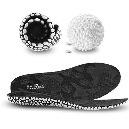 PCSsole Sport Einlegesohlen Fußbett Dämpfung Schuheinlagen für Arbeitsschuhe Laufschuhe Schuhe Komfort Gel Sohle Einlage für Damen und Herren (EU 41-44) -