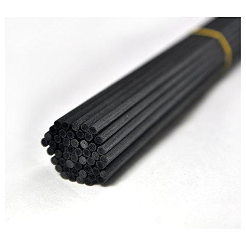 Duft-duft-reed-diffusor (50Stück Durchmesser 3,5mm 4mm Faser Reed Diffusor Ersatz-Sticks für Aroma Duft, schwarz, 30cm*4mm)