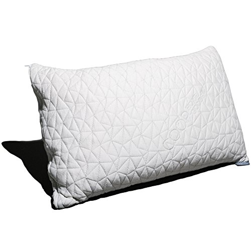 Shredded Memory Foam Pillow with Bamboo Cover by Coop Home Goods - Made in the USA - QUEEN by Coop Home Goods