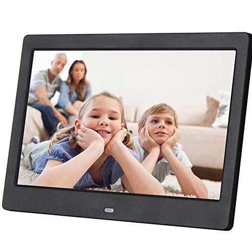 SMDFDN 10 Zoll LCD LED TFT Digitaler Fotorahmen Videomusikkalender/Uhr/E-Book (Color : Black)