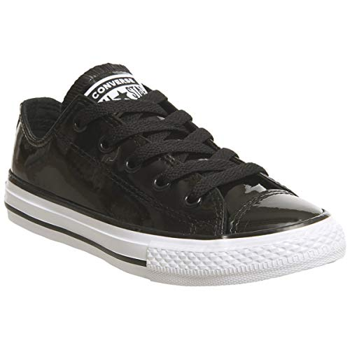 Converse Youth CTAS Ox Patent Synthetic Black White Trainer 38.5 EU Youth Black Patent Schuhe