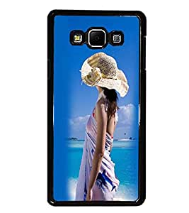 PrintDhaba Hat Girl D-2445 Back Case Cover for SAMSUNG GALAXY E7 (Multi-Coloured)