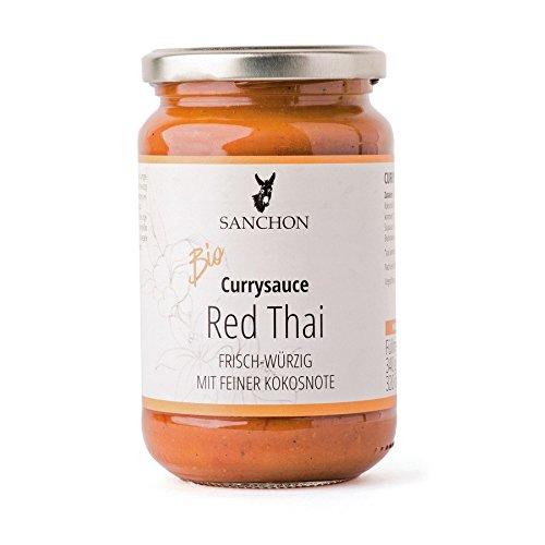 Sanchon Bio Red Thai Thailändische Currysauce (6 x 350 ml)