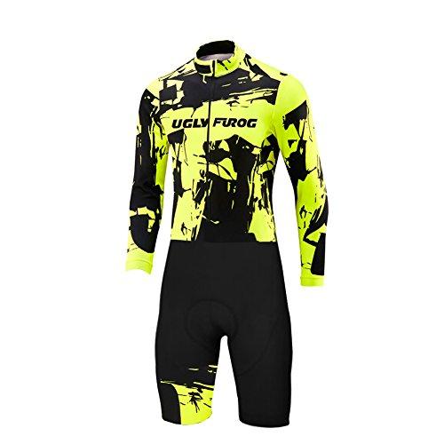 BurningBikewear Uglyfrog Skinsuit Maillot Manga Larga Ciclismo Ropa Hombres  Bodies con 3D Gel Pad Pantalones Cortos cbee1f62a