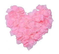 Idea Regalo - JZK® 1000 x Seta petali di rosa finti rosa coriandoli biodegradabili stoffa decorazione tavolo per matrimonio addio al nubilato San Valentino nozze