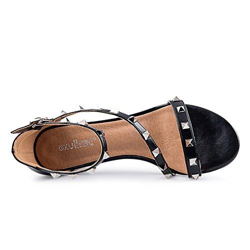 Chaussures De Rivet Dété/Sandales à Talon Chunky/Ladies Open Toe Sandales C