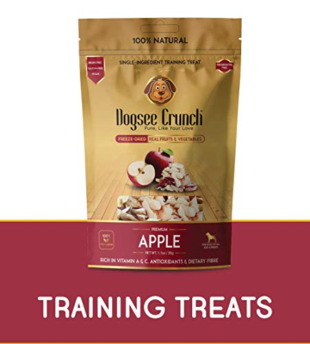 Dogsee Crunch Single-Ingredient Freeze-Dried Apple Training Treat for Dogs, 30 g