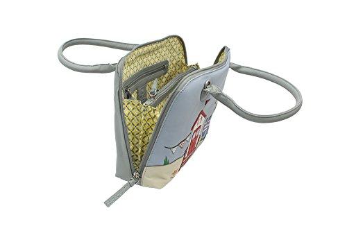Nueva Autorización Pelle mala pelle BEAU Collezione Grab Bag -Detachable Tracolla 7108_89 Grey Grey Barato 100% Originales zd62YI