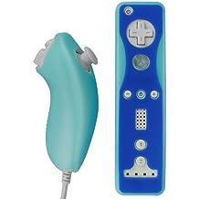 Skque Silikontasche Skin Case für Nintendo Wii Nunchuck und Remote / Fernbedienung Controller - Schutzhülle Cover in Blau