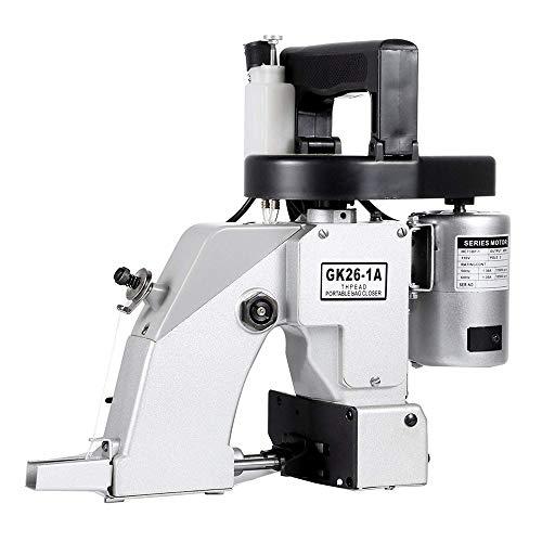 S SMAUTOP Beutelversiegelungsmaschine Tragbare Nähmaschine Elektrische Nähmaschine Strickbeutelversiegelungsverpackungsmaschine (Silber) -