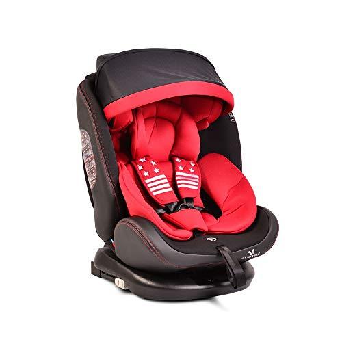 Cangaroo Kindersitz Pilot 0-36 kg Gruppe 0+/1/2/3, Isofix, drehbar, 165° Neigung rot