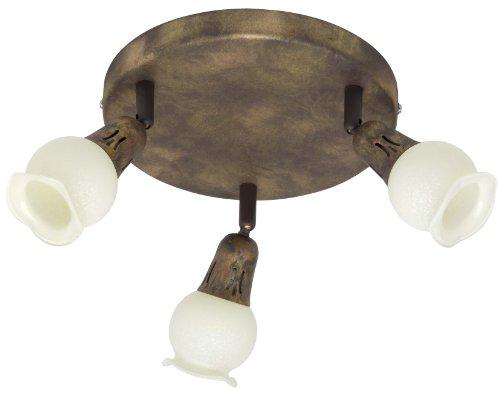 Brilliant G12134/56 Plafonnier 3 Lampes Métal/Verre Multicolore 21 x 16,5 x 11 cm