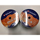 100 Verbatim Dvd-R mat zilver wrap spindle 43788 2 verpakkingen 50 stuks